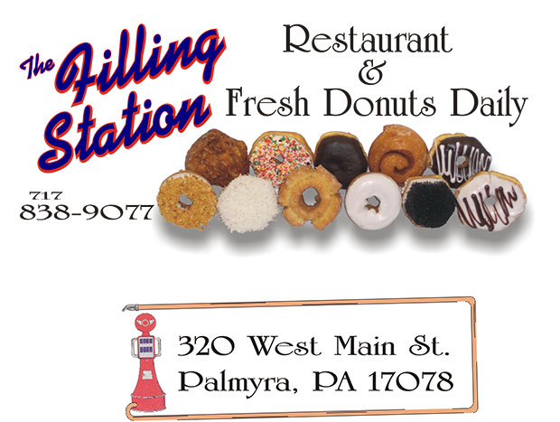 The Filling Station Restaurant & Fresh Donuts Daily - 717-838-9077 - 320 West Main St. Palmyra, PA 17078